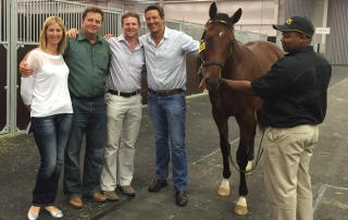 Piet and Candice with fellow Game breeders and investors Richard Morton and Beyers Gerber
